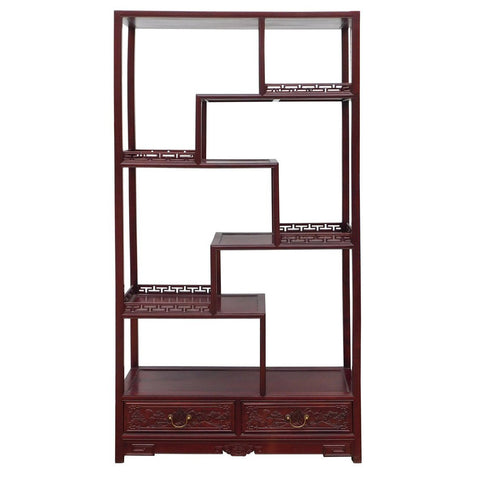 Chinese rosewood eight treasure display cabinet
