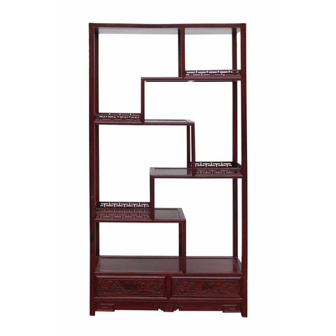 rosewood multi layer display cabinet