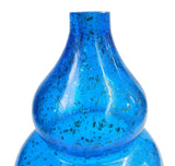 blue vase -glass vase - flower vase
