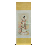 Kwan Yin statue scroll painting