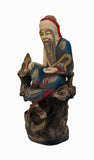 Handcrafter Camphor Wood Chinese Feng Shui Decor Goddess of Longevity jz119S