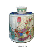 Asian tea porcelain jar