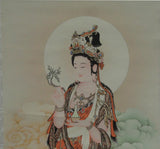 Quin Yin scroll painting art