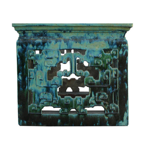 Chinese green clay square outdoor table