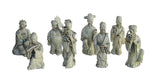 porcelain Chinese 8 immortal statue