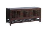 Chinese Huali Wood Contemporary TV Stand w Open Panel Doors m114S