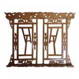 Chinese Brown Book Reading Holder Rack