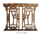 Chinese Hand Carved Wood Brown Book Reading Holder Rack mh297S