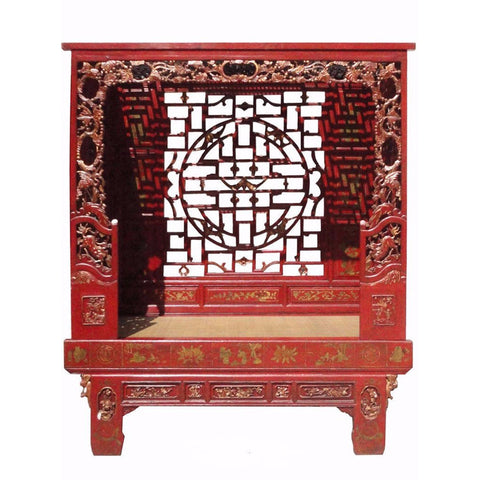 antique Chinese canopy bed