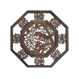 Chinese hexagon carved wall panel