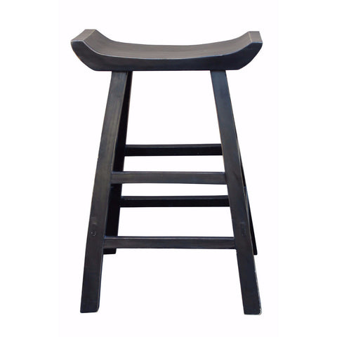 black tall bar stool
