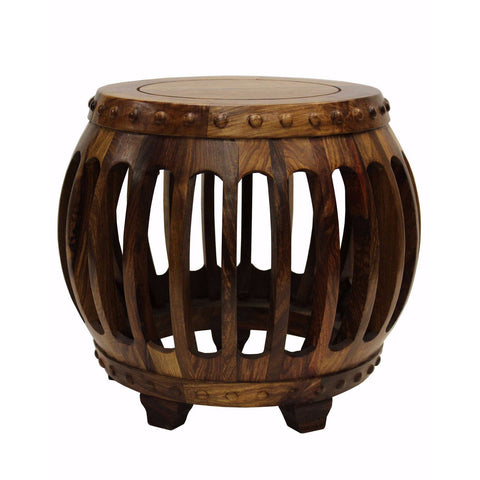 rosewood drum stool