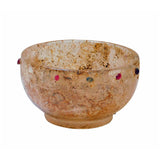 Reproduction Ancient Chinese Under Ground Treasure Crystal Glass Bowl With Colorful Dot Design