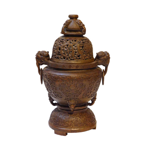 bamboo incense burner