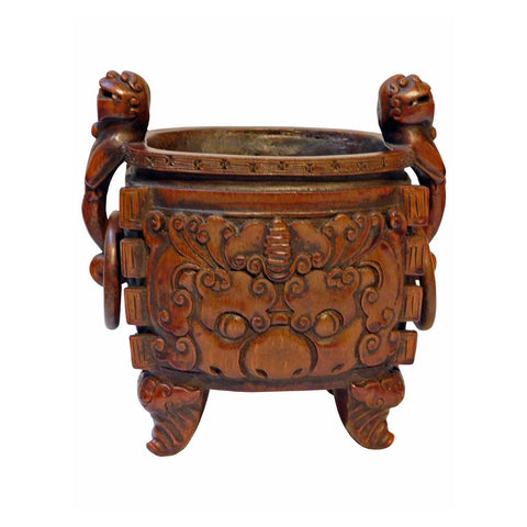 Chinese bamboo ding incense burner