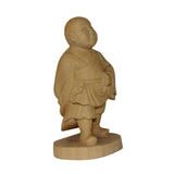 light color monk statue