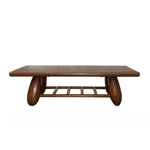 thick wood rectangular coffee table