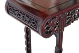 rosewood narrow hallway table