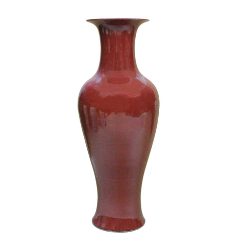 Burgundy Red tall vase