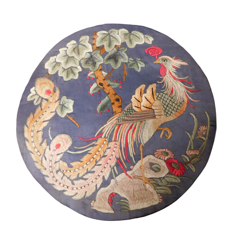 antique embroidery phoenix
