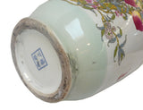 longevity peach porcelain painter vase