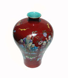 Chinese longevity painting ceramic vase