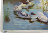 Oil Paint Canvas Art Ducks Family Wall Decor Painting cs320S