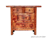 Rustic Lacquer Wood Country Side Cabinet s035S