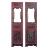 Oriental old carved panel
