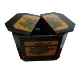 Chinese Rustic Rectangular Wood Box Bucket s1148S