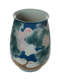 porcelain lotus bird painting vase