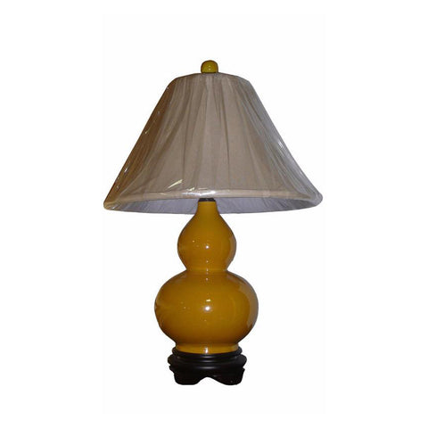 yellow porcelain table lamp