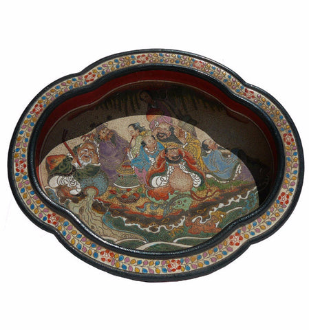 Chinese Powder Doped Eight Immortal Display Dish