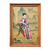 Chinese lady portrait oil painting
