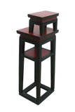 Chinese Black & Red Narrow Side Table Stand s2384S