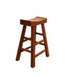 Light Brown Thick Natural Wood Bar Stool s2444S