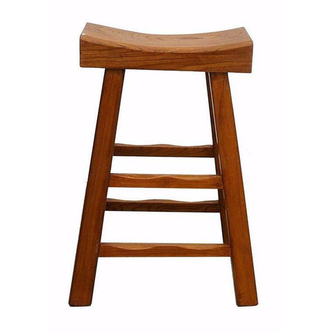thick wood bar stool