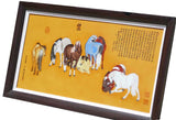 eight horse porcelain painting wall art