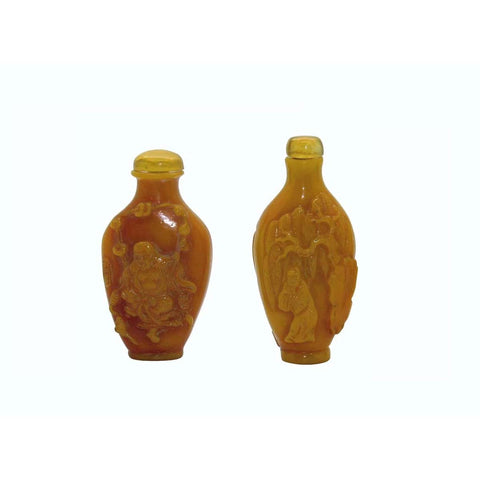 yellow resin snuff bottle