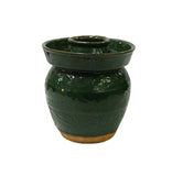 Traditional Chinese Green Glazed Ceramic Food Preserved Container
