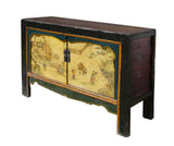 Chinese Black Yellow Green Kids Graphic Console Table ss769S