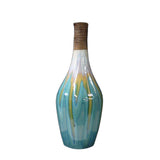 modern clay bottle shape green color vase