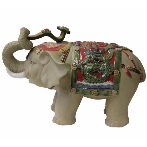 Chinese lucky feng shui elephant statue