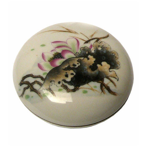 lotus flower porcelain round box