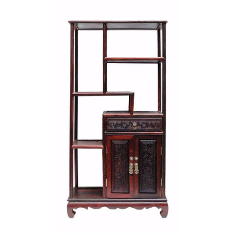 small rosewood multi layer stand cabinet
