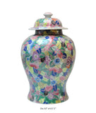 Chinese Mutli-color Flower Motif Fat Porcelain Jar vs159s