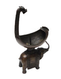 Chinese Bronze Artistic Elephant Candle Holder Figure vs293S