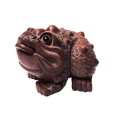 Boxwood Carved Chinese Fortune Toad, Money Frog Statue