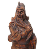 Chinese Wood Carved General Guan statue