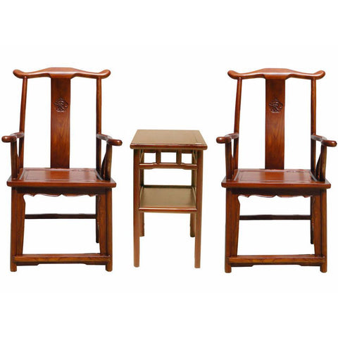 traditional Chinese tall back arm chair